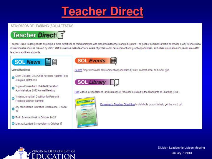 Teacher Direct