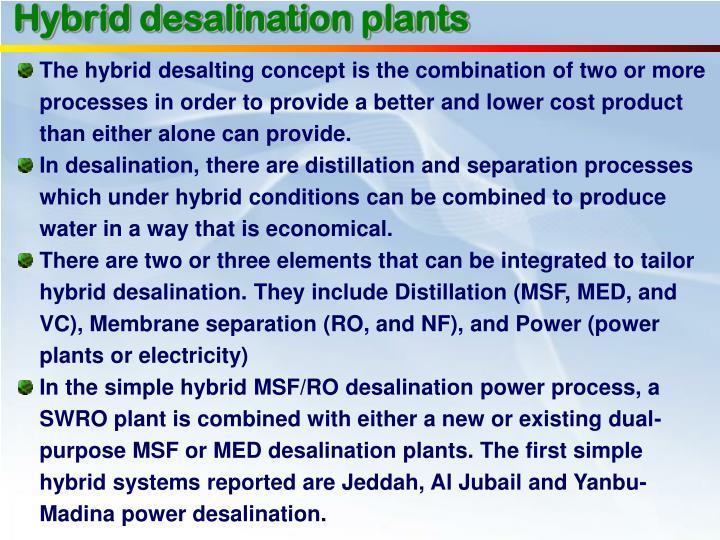 Hybrid desalination plants