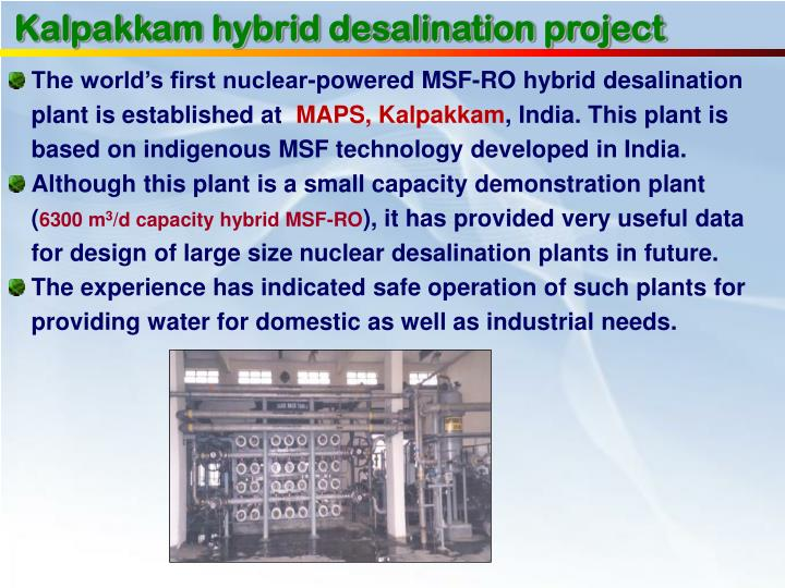 Kalpakkam hybrid desalination project