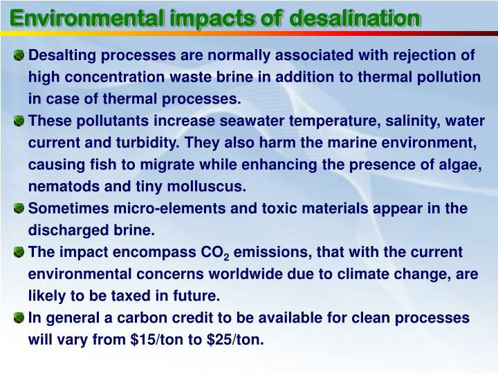 Environmental impacts of desalination
