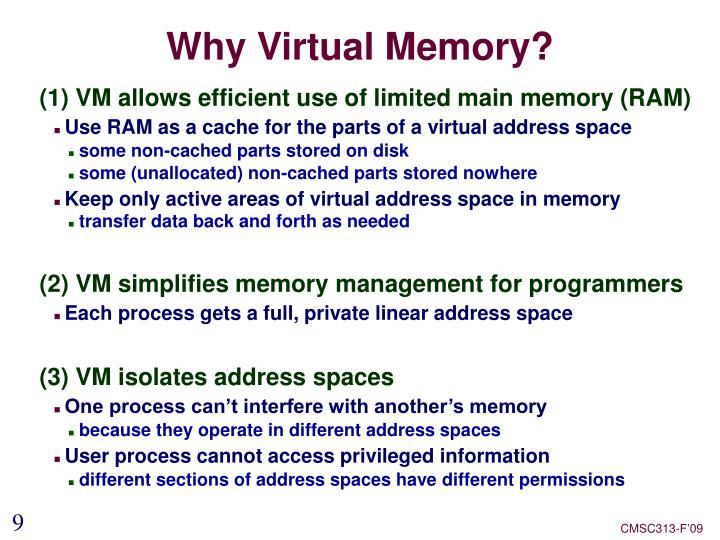 Why Virtual Memory?