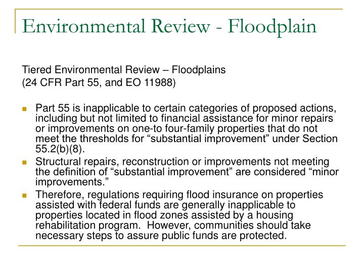 Environmental Review - Floodplain