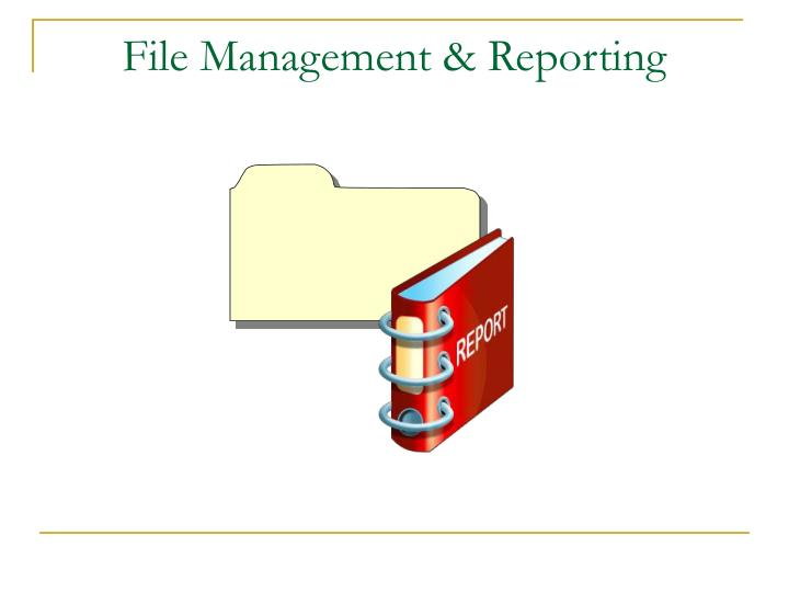 File Management & Reporting