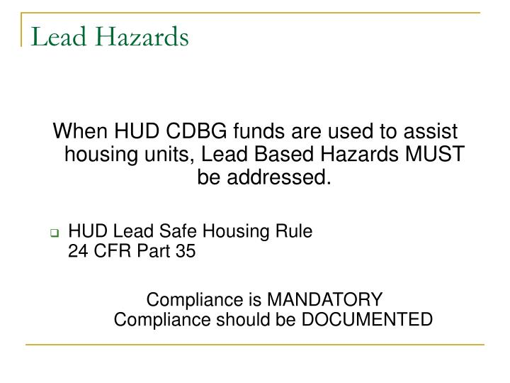 Lead Hazards