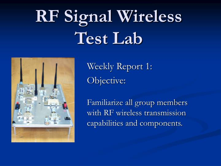rf signal wireless test lab