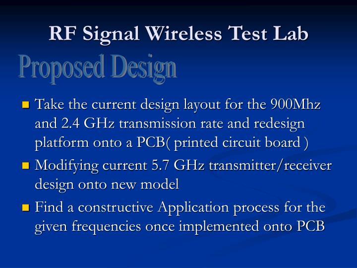 RF Signal Wireless Test Lab