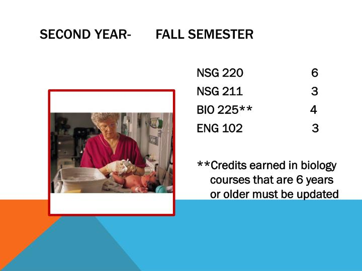 Second Year-       Fall semester