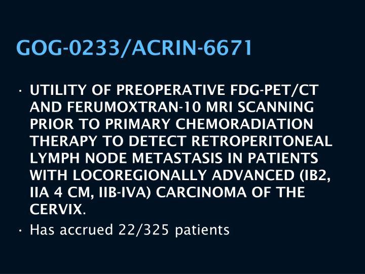 GOG-0233/ACRIN-6671