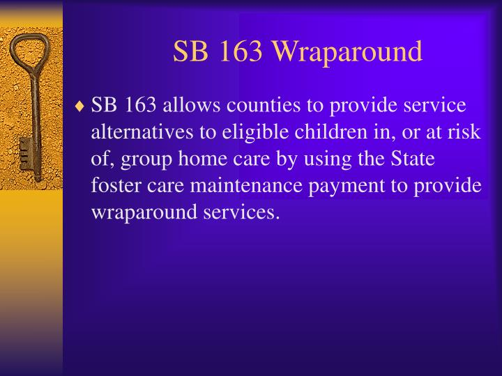 SB 163 Wraparound