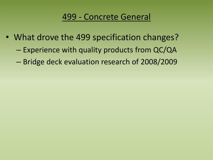 499 - Concrete General
