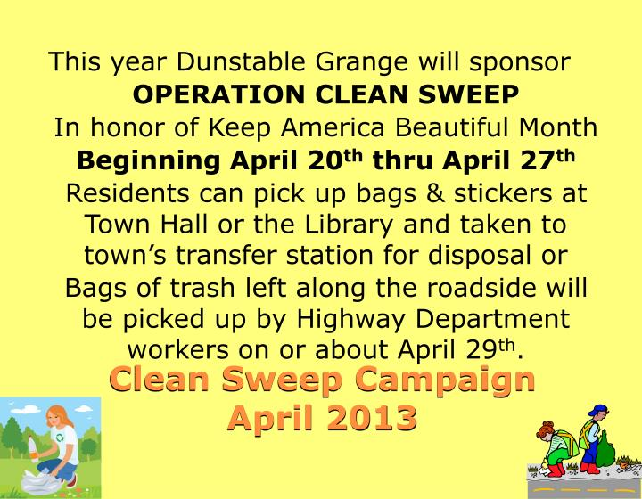 This year Dunstable Grange will sponsor