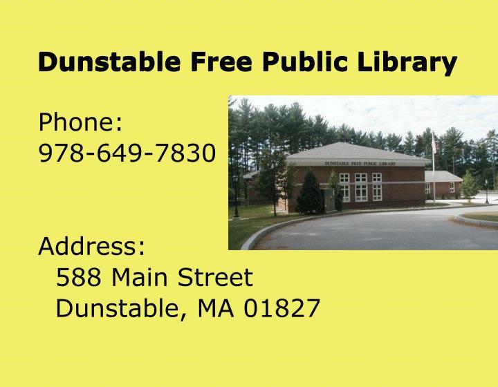 Dunstable Free Public Library