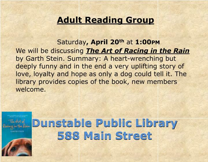 Adult Reading Group