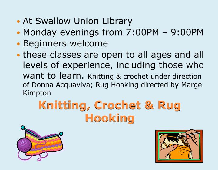 At Swallow Union Library