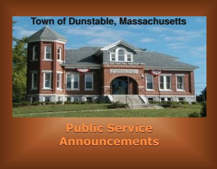 Town of Dunstable, Massachusetts