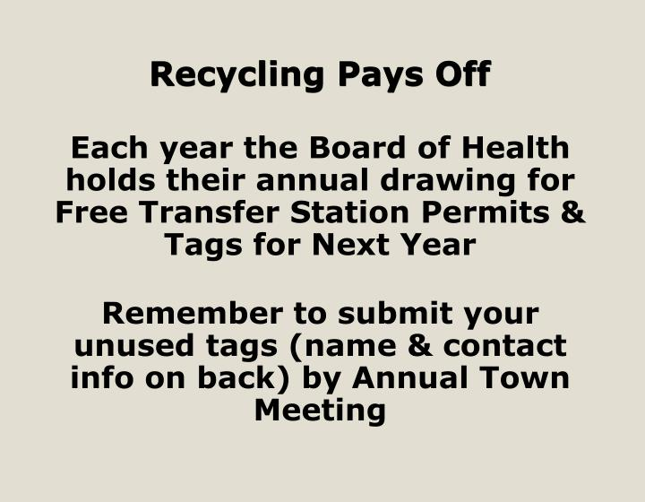 Recycling Pays Off