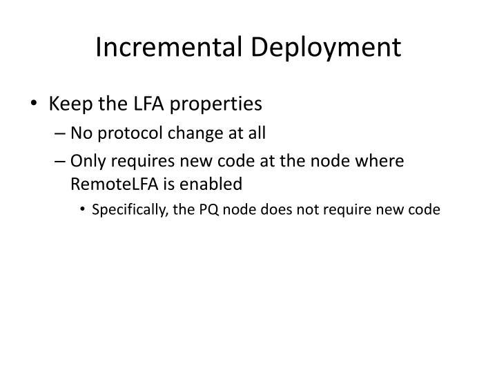 Incremental Deployment