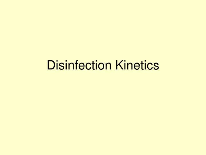 Disinfection Kinetics
