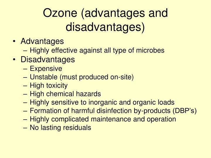 Ozone (advantages and disadvantages)