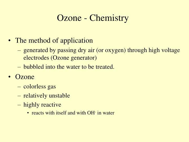 Ozone - Chemistry
