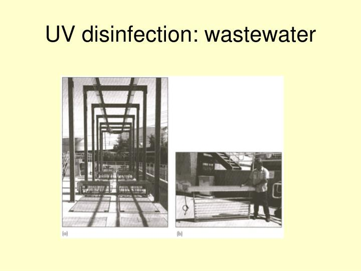 UV disinfection: wastewater