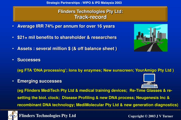Flinders Technologies Pty Ltd: