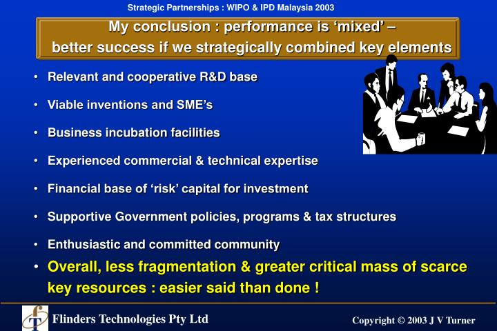 My conclusion : performance is 'mixed' –