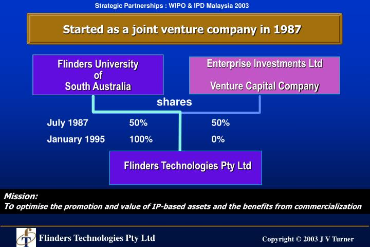 Started as a joint venture company in 1987