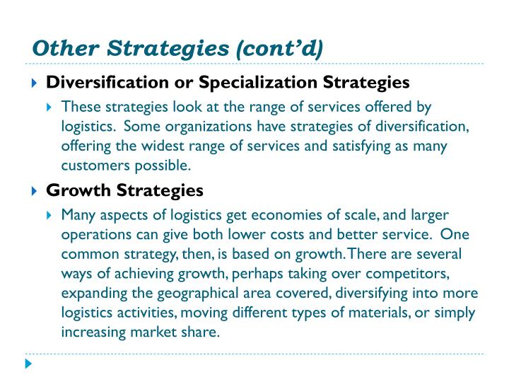 Other Strategies (cont'd)