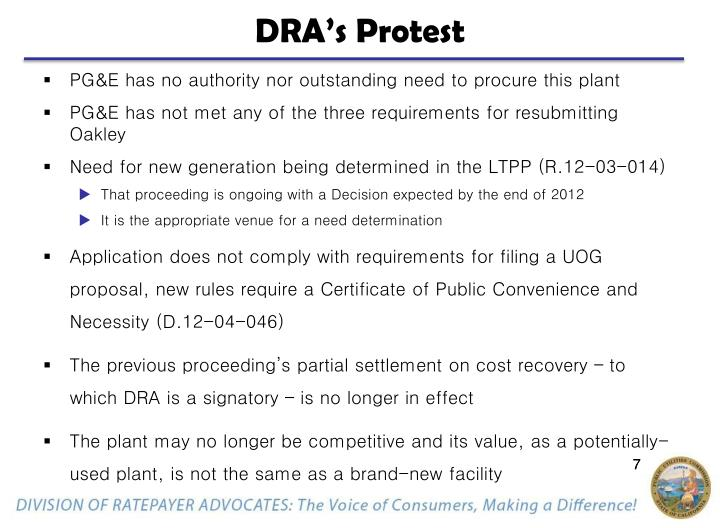 DRA's Protest