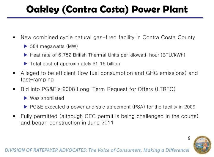 Oakley (Contra Costa) Power Plant