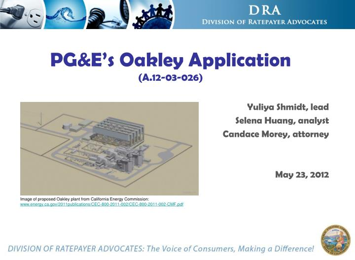 pg e s oakley application a 12 03 026