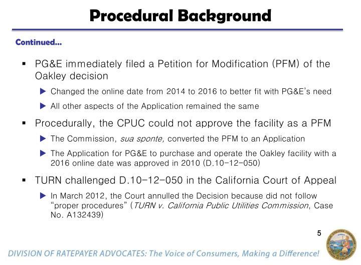 Procedural Background