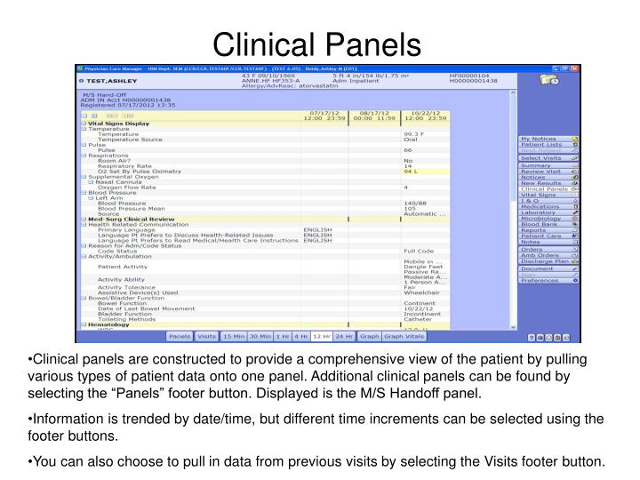 Clinical Panels