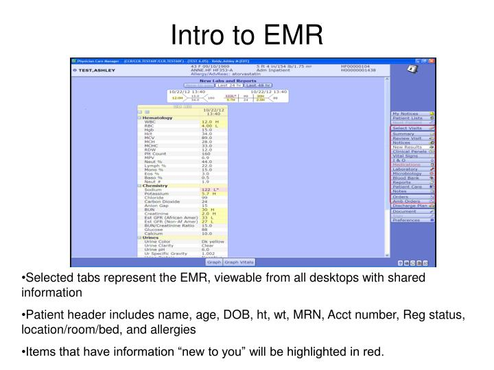 Intro to EMR