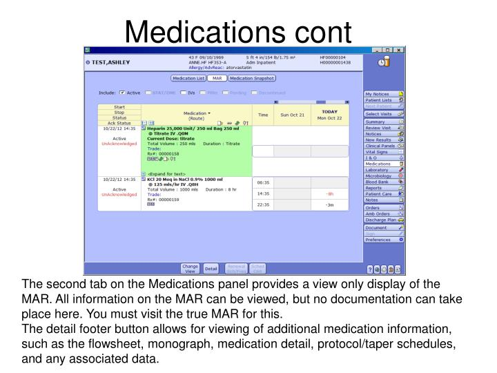 Medications cont