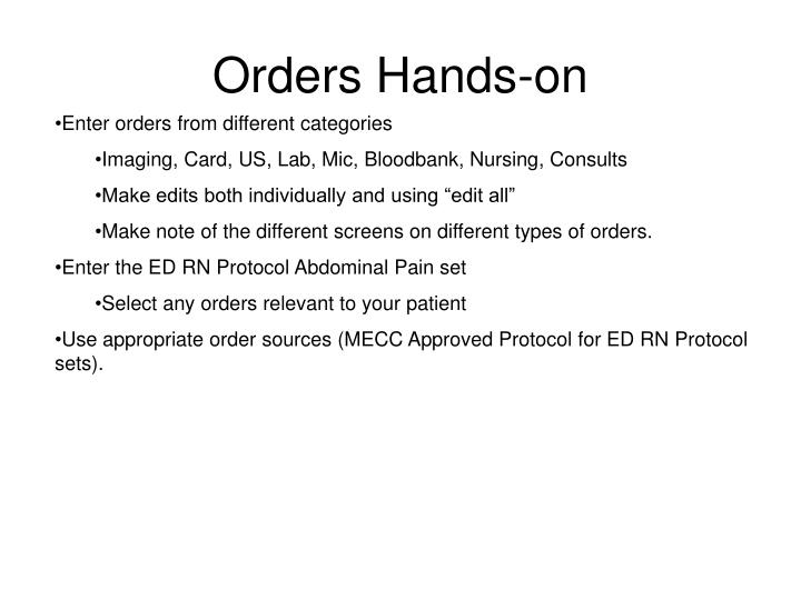 Orders Hands-on