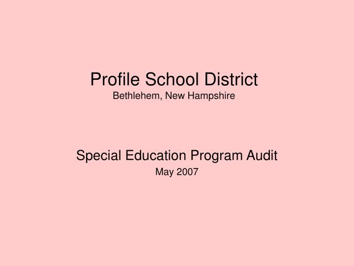 profile school district bethlehem new hampshire