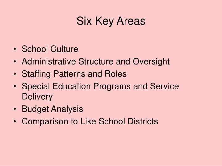 Six Key Areas