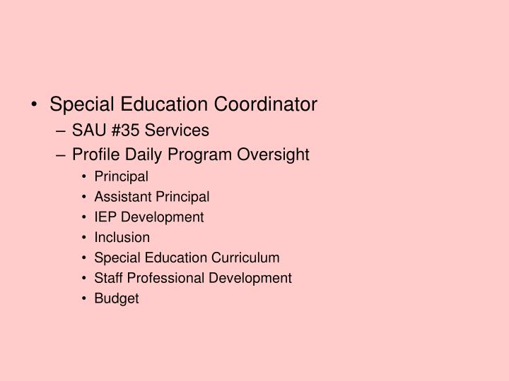 Special Education Coordinator