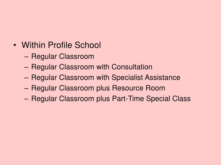 Within Profile School