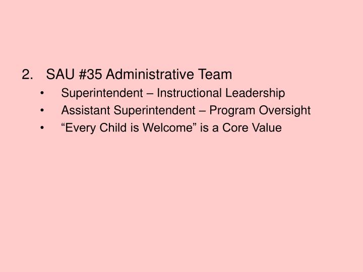 SAU #35 Administrative Team