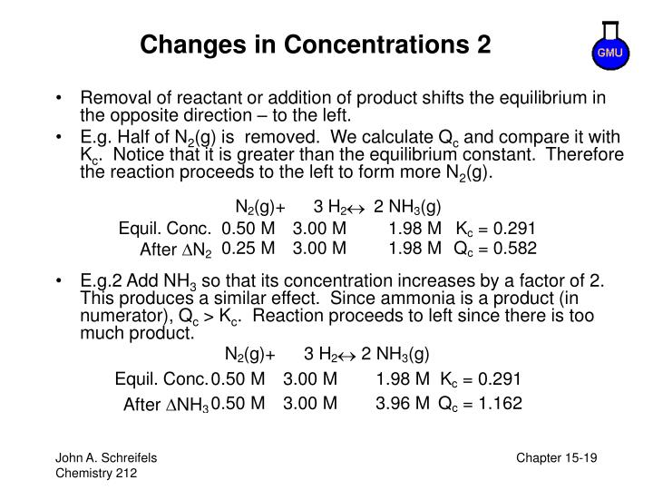 Changes in Concentrations 2