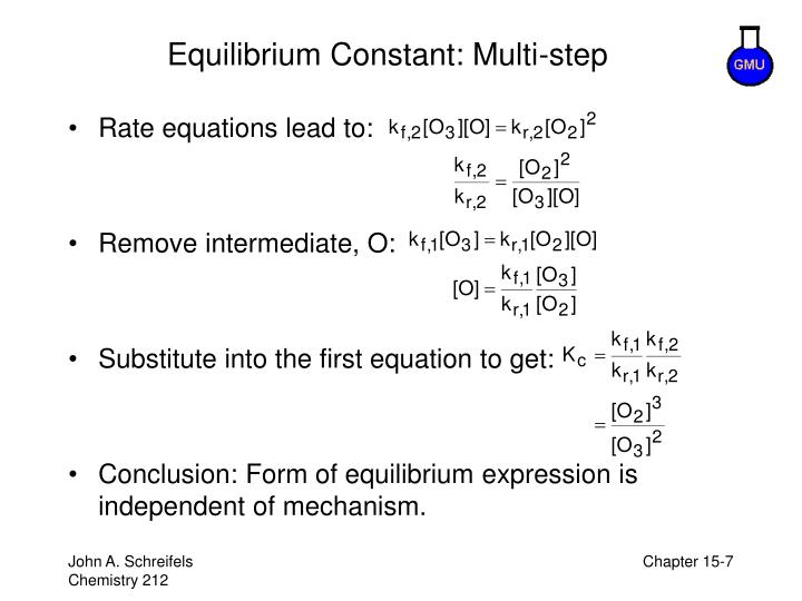 Equilibrium Constant: Multi-step