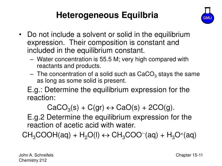 Heterogeneous Equilbria