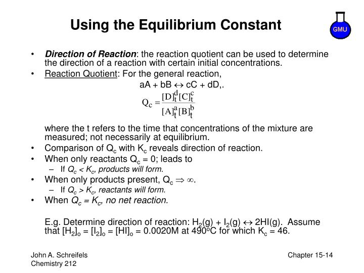 Using the Equilibrium Constant