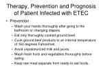 therapy prevention and prognosis of patient infected with etec1