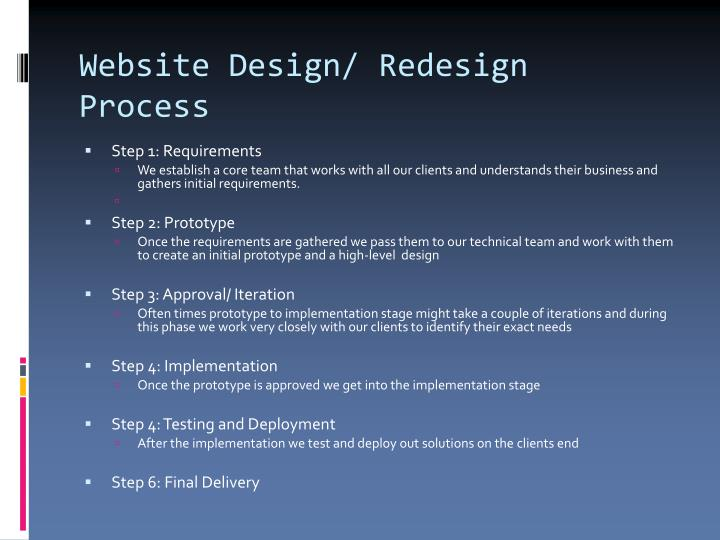 Website Design/ Redesign Process