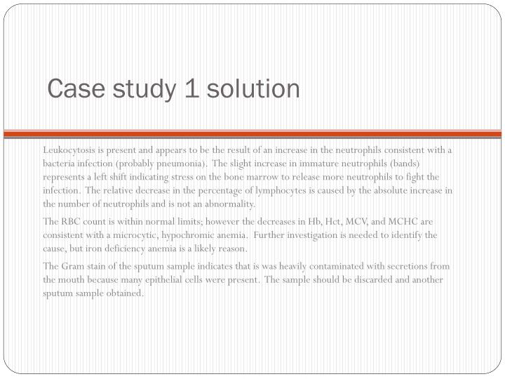 Case study 1 solution