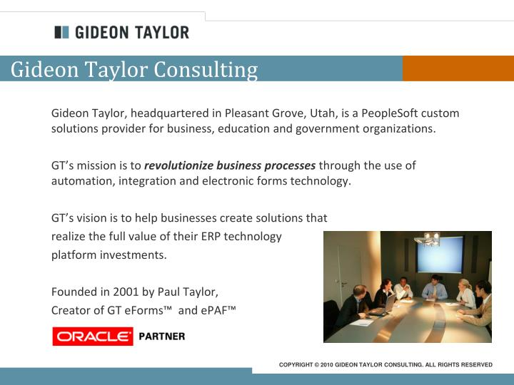 Gideon Taylor Consulting